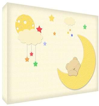Camilla And Marc Feel Good Art Bearmoon Pad Acrylic Bear with Moon (A6BLK 15De Diamond Polishing Ted 14.8 x 10.5 cm, Multi-Colour