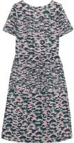 Chinti and Parker Pintucked Camouflage-Print Cotton-Voile Dress