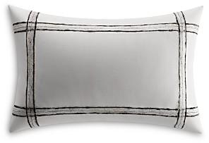 Vera Wang Charcoal Vines Mohair Plaid Breakfast Pillow
