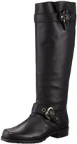 Trooper Buckled Leather Flat Boot