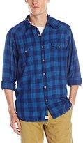 Lucky Brand Men's Blue Bison Western Shirt
