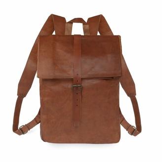Vida Vida Vida Vintage Mens Leather Roll Top Backpack