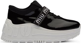 Miu Miu Patent Finish Platform Sneakers