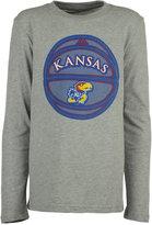 adidas Boys' Long-Sleeve Kansas Jayhawks Moving Screens T-Shirt
