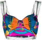 Versace silk multicolored cropped top