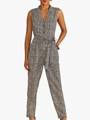 Yumi Leopard Print Jumpsuit, Brown