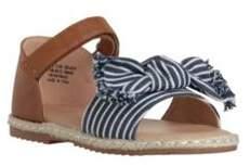 F&F Striped Bow Espadrille Sandals Child 4