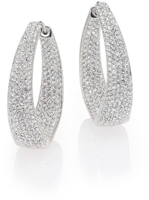 Adriana Orsini Crystal Pave Twist Hoop Earrings/1.25""