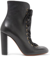 Chloé Lace-up Leather Ankle Boots - Black