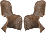 Safavieh Tana Wicker Side Chairs, Natural
