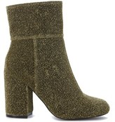 Steve Madden Women's Gold Fabric Ankle Boots.
