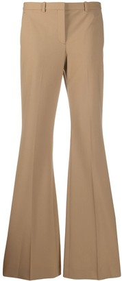 Theory High-Waisted Flared Leg Trousers