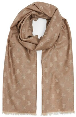 Harrods All-Over Monogram Print Scarf