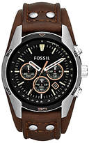 Fossil Ch2891 Coachman Chronograph Leather Strap Watch, Brown/black