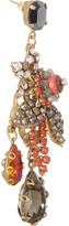 Swarovski Bijoux Heart Presence gold-plated crystal drop earrings