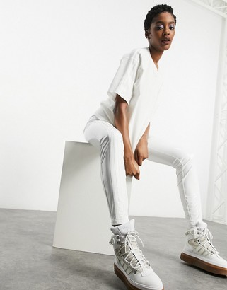 Ivy Park adidas x latex pants in core white