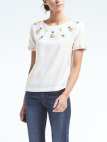 Banana Republic Pineapple Embellished Top
