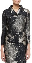 Escada 3/4-Sleeve Short Metallic Jacket, Black