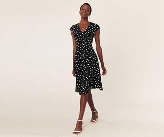 Oasis V Neck Fit & Flare Dress