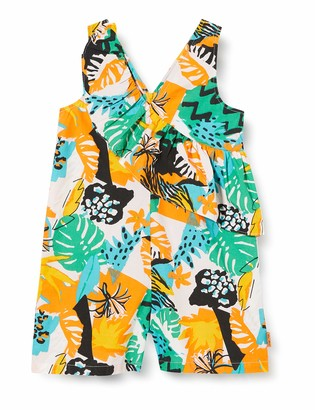 Tuc Tuc White Printed POPLIN Jumpsuit for Girl Party Animal