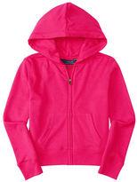 Ralph Lauren Girls 2-6x Zip Front Hooded Sweater
