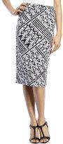 Spense Pixel Tribal Knit Skirt
