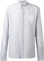 Balmain lion pinstriped shirt - men - Cotton - 38