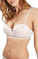 Topshop Women's Underwire Sporty Trim Balconette Bra