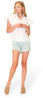 Lola Jeans High-Rise Shorts with Raw Edge Detail - Liana