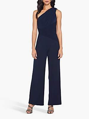Adrianna Papell One Shoulder Jumpsuit, Midnight
