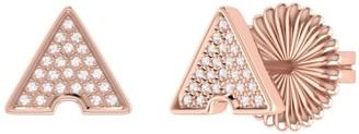 Lmj Skyscraper Stud Earrings In 14 Kt Rose Gold Vermeil On Sterling Silver