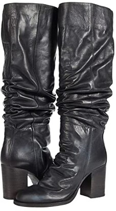 Free People Elyse Tall Boot Slouch (Black) Women's Shoes