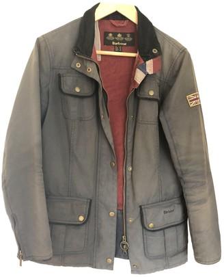 Barbour Blue Cotton Coat for Women