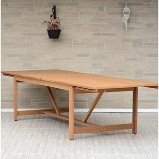 Brighton Extendable Wooden Dining Table Sol 72 Outdoor Color: Light Teak Finish