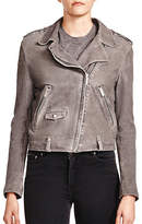 The Kooples Smooth Crackled Leather Jacket