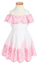 Kate Mack Toddler Girl's Off The Shoulder Dress