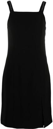 Armani Exchange Square-Neck Sleeveless Midi Dress
