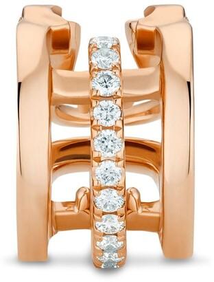 De Beers 18kt rose gold diamond Horizon earcuff