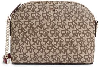 DKNY Corrie Dome Logo Leather Crossbody Bag