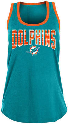 5th & Ocean Women Miami Dolphins Contrast Tank