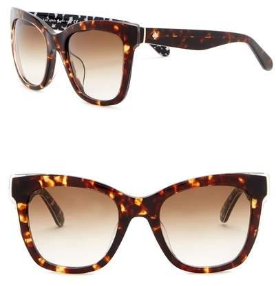 Kate Spade Emmy 51mm Squared Cat Eye Sunglasses
