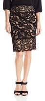 Nicole Miller Women's Stretch Lace Skirt