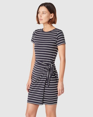 French Connection Jersey Stripe Wrap Dress