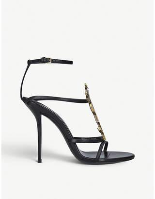 Saint Laurent Cassandra leather heeled sandals