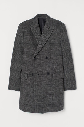 H&M Double-breasted Coat - Gray