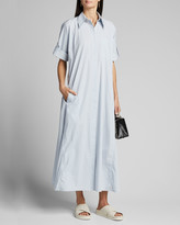Co Ruffled Shirtdress
