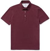 Brunello Cucinelli - Slim-fit Cotton-piqué Polo Shirt