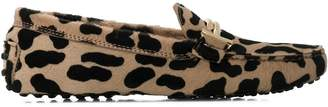 Tod's animal pattern driving loafers