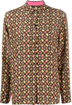 Paul Smith beetle and flora print shirt