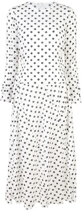Julien David longsleeved spot print dress